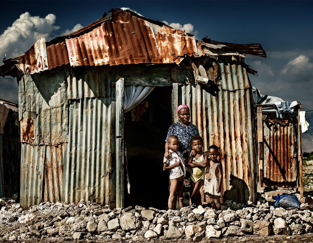 A single mother in Ti Ayiti, Port-au-Prince, Haiti